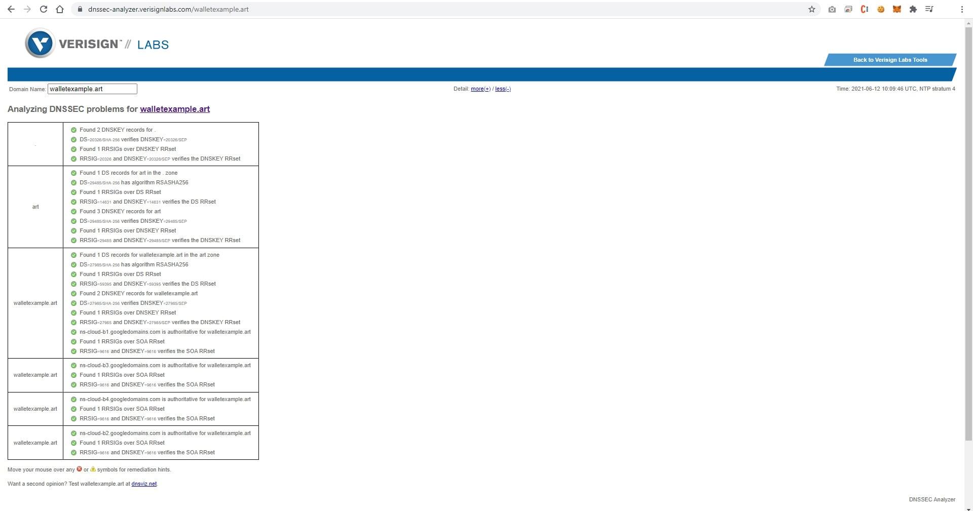 Verisign DNSSEC analyzer