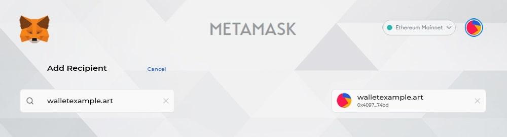 metamask forward lookup