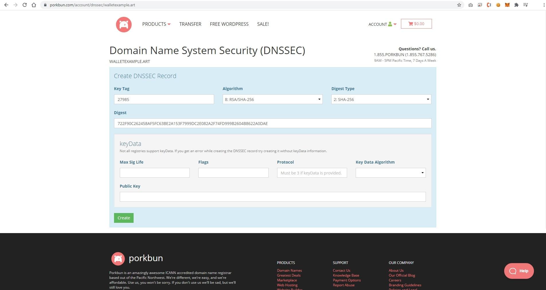 DNSSEC form